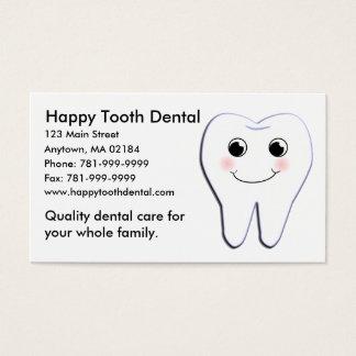 Cartes De Visite Rendez-vous dentaire de dent heureuse faite sur