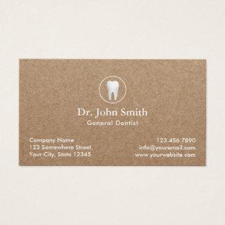 Cartes De Visite Rendez-vous dentaire rustique de Papier