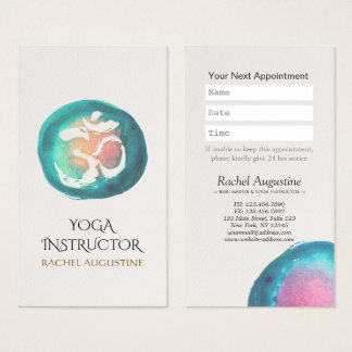 Cartes De Visite Rendez-vous d'instructeur de YOGA de symbole de