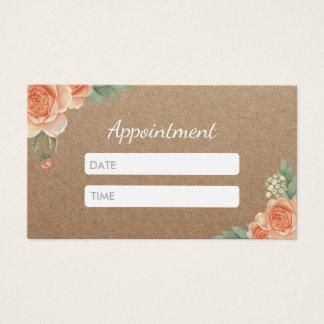 Cartes De Visite Rendez-vous floral rustique de cheveux et de