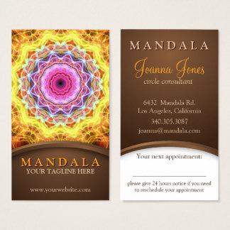 Cartes De Visite Rendez-vous holistique de mandala de passion