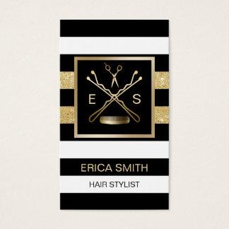 Cartes De Visite Rendez-vous moderne de salon de beauté de coiffeur