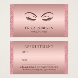 Souvent Cartes de visite Maquillage personnalisées   Zazzle.be JW74