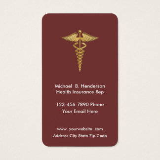 Cartes De Visite Représentant Businesscards d'assurance maladie