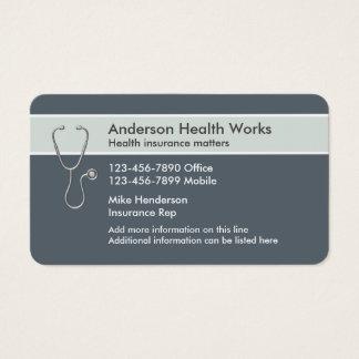 Cartes De Visite Représentant d'assurance maladie