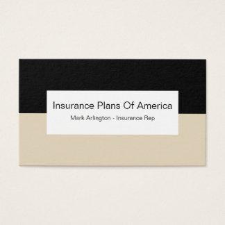 Cartes De Visite Représentant de compagnie d'assurance maladie