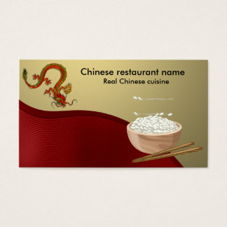 Cartes De Visite Restaurant chinois
