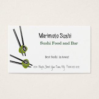 Cartes De Visite Restaurant chinois de nourriture de sushi