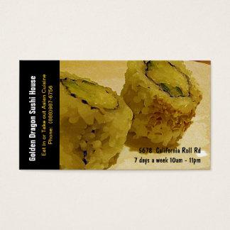 Cartes De Visite Restaurant de sushi la Californie Rolls