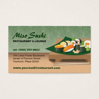 Cartes De Visite Restaurant de Tableau de sushi