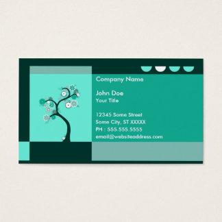 Cartes De Visite rétro arbre