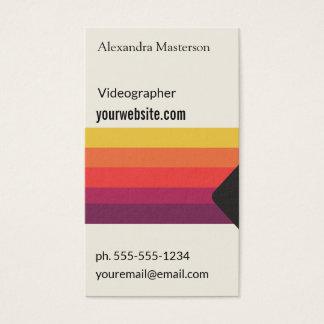 Cartes De Visite Rétro cassette vidéo de VHS pour Videographers,