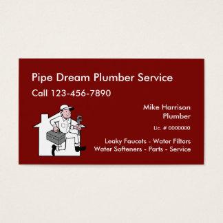 Cartes De Visite Rétro conception de service de plombier