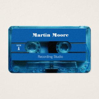 Cartes De Visite Rétro couverture audio vintage de cassette de