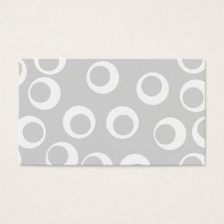 Cartes De Visite Rétro modèle gris-clair et blanc