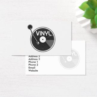 Cartes De Visite Rétro plaque tournante de disque vinyle
