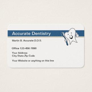 Cartes De Visite Rétro thème de caractère de dent de dentiste