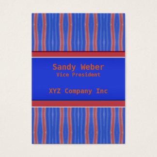 Cartes De Visite Rétros lignes affligées oranges bleues lumineuses