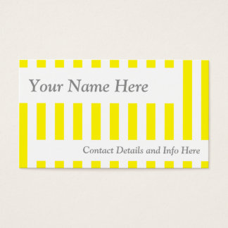 Cartes De Visite Rétros rayures jaunes classiques