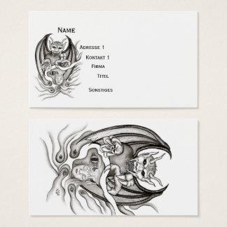 Cartes De Visite Rêve de minuit - diables dans le Tatouage-style