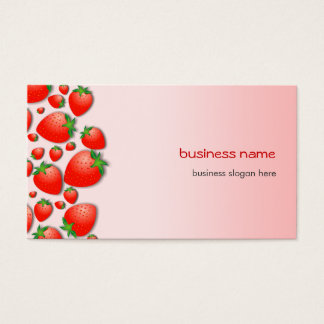 Cartes De Visite Rose frais de fraise
