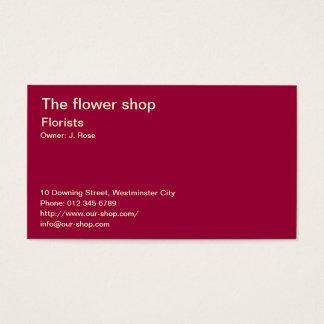 Cartes De Visite Rose rouge
