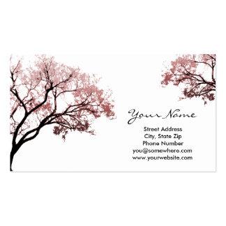 Cartes de visite roses d'arbres cartes de visite professionnelles