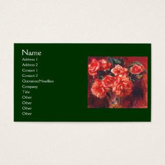 Cartes De Visite Roses de mousse par Renoir