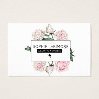 Cartes De Visite Roses pour aquarelle élégants de ★