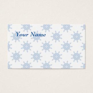 Cartes De Visite Roues bleues de dent. La fractale entoure le