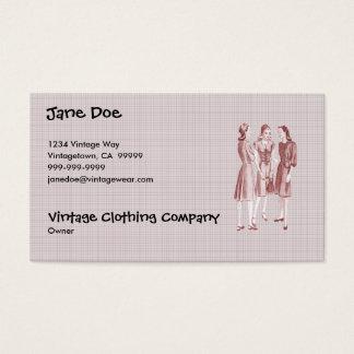 Cartes De Visite Rouge vintage de la mode V2 des années 1940