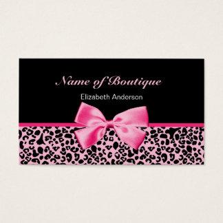 Cartes De Visite Ruban rose et noir de boutique à la mode de