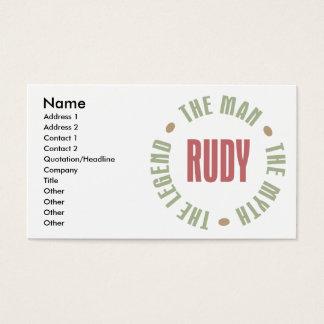 Cartes De Visite Rudy l'homme le mythe la légende