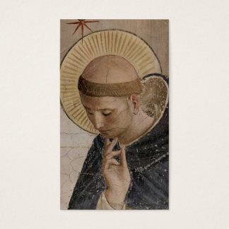 Cartes De Visite Saint Francis d'Assisi dans la contemplation