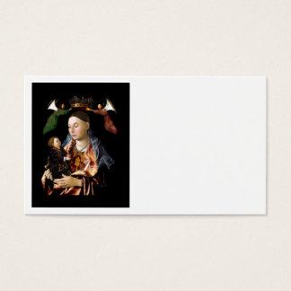Cartes De Visite Salaison de Madonna et de l'enfant du Christ