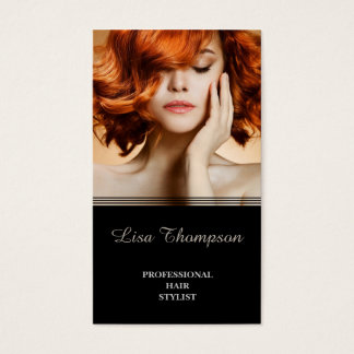 Cartes De Visite Salon de beauté élégant de coiffeur professionnel