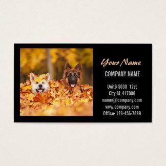 Cartes De Visite Salon de beauté mignon moderne de service d'animal
