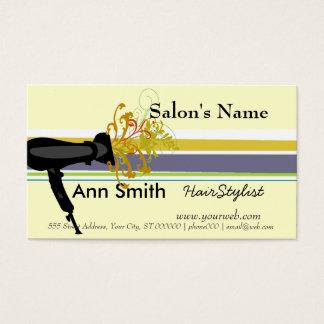 Cartes De Visite Salon de beauté promotionnel de coiffeur