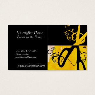 Cartes De Visite Salon de styliste en coiffure de ciseaux de magie