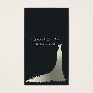 Cartes De Visite Salon nuptiale de robe de Chambre de mode de