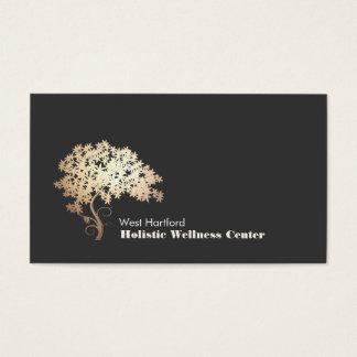 Cartes De Visite Santé holistique et alternative d'arbre de zen