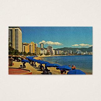 Cartes De Visite Scène vintage Acapulco de plage