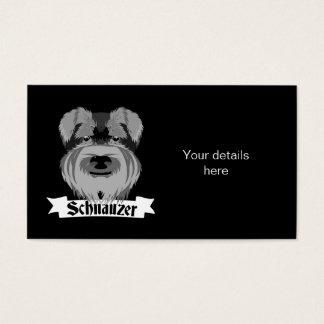 Cartes De Visite Schnauzer noir et gris