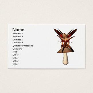 Cartes De Visite Séance féerique d'automne sur un champignon