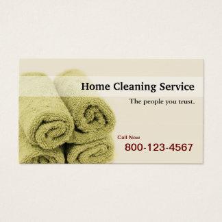 Cartes De Visite Service à la maison de nettoyage