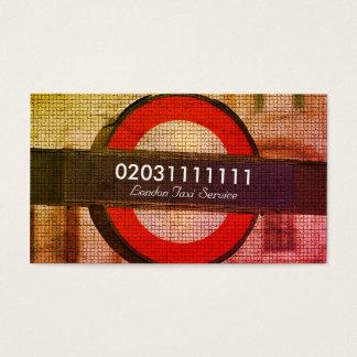 Cartes De Visite Service de taxi d'effet de mosaïque de ville de