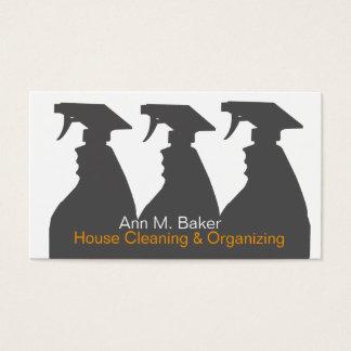 Cartes De Visite Services de organisation de nettoyage de Chambre