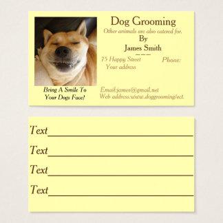 Cartes De Visite services drôles de soin des animaux familiers de