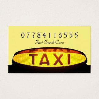 Cartes De Visite Signe jaune de taxi