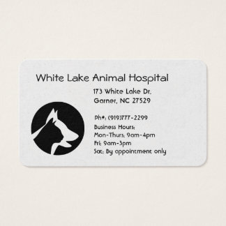 Cartes De Visite Silhouette d'animal familier